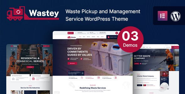 Wastey - Waste Pickup and Disposal Services WordPress Theme