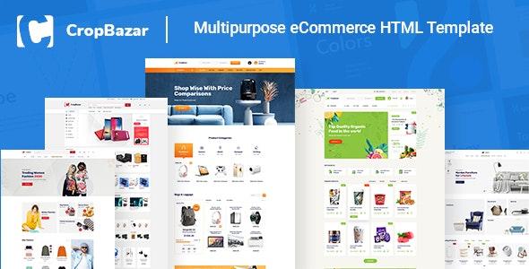 Cropbazar – Multipurpose eCommerce HTML Template - Site Templates