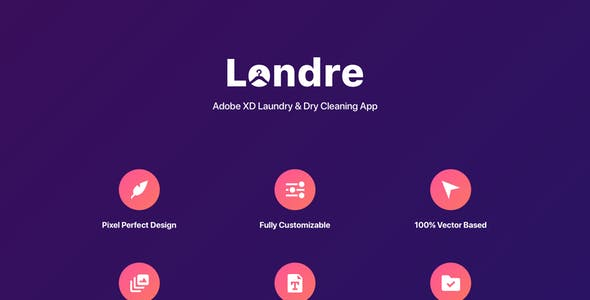 Londre - Adobe XD Laundry & Dry Cleaning App