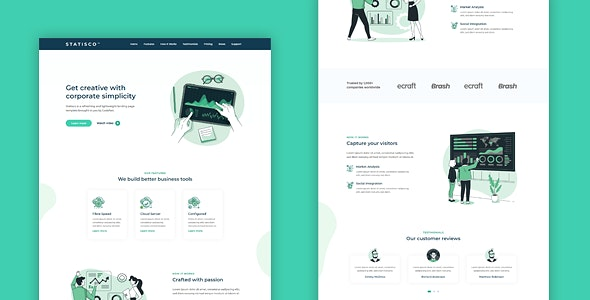 STATISCO - Multi-Purpose HTML Landing Page Template for Business and Startups - Business Corporate