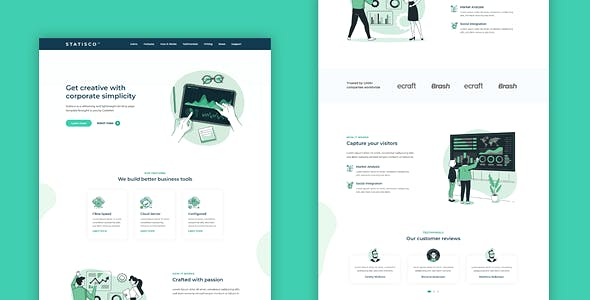 STATISCO - Multi-Purpose HTML Landing Page Template for Business and Startups