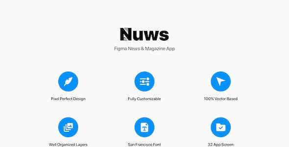 Nuws - Figma News & Magazine App