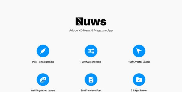 Nuws - Adobe XD News & Magazine App