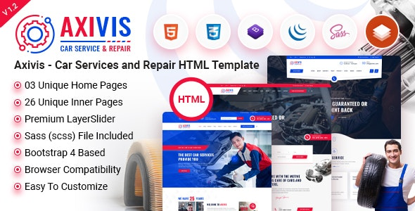 Axivis - Car Services and Repair HTML Template - Corporate Site Templates