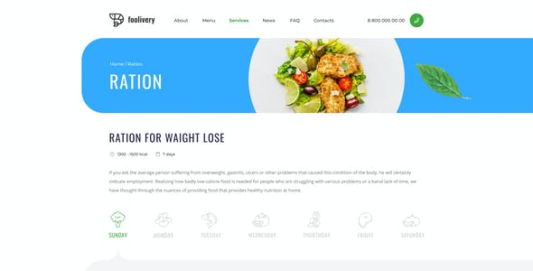 Foolivery – Health Food Template for Photoshop