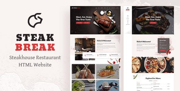 SteakBreak - Restaurant HTML Template