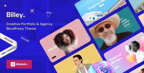 Billey v1.5.4 – Creative Portfolio & Agency WordPress Theme