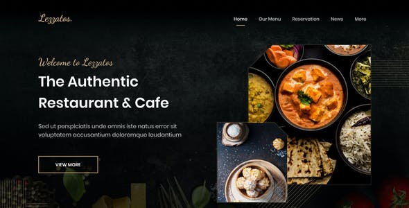 Lezzatos | Restaurant and Cafe for Adobe XD
