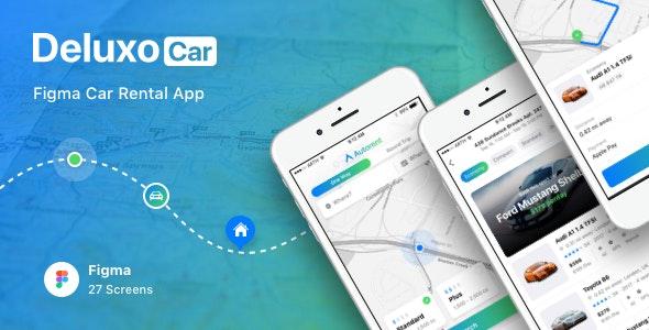 Deluxo Car - Figma Car Rental App - Business Corporate