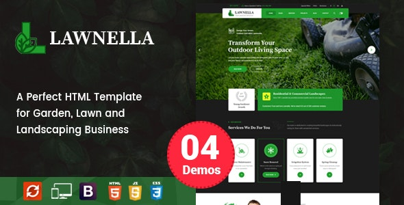 Lawnella - Gardening and Landscaping HTML Template - Business Corporate
