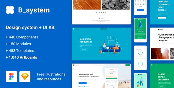 B_system - Massive All in One Design System - Figma UI Templates