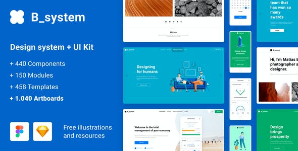 B_system - Massive All in One Design System