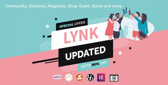 Download Lynk - Social Networking and Community WordPress Theme