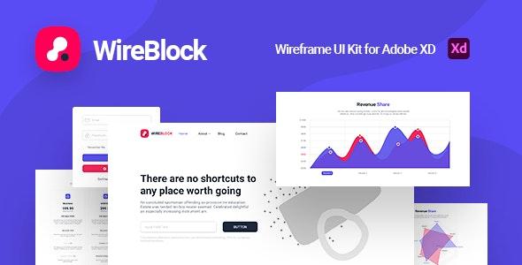 WireBlock - Wireframe UI Kit for Adobe XD - Adobe XD UI Templates