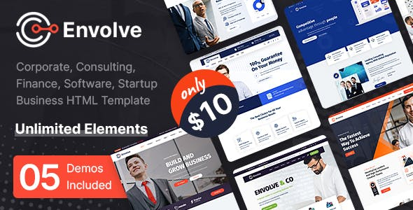 Envolve - Multi-Purpose Business HTML Template