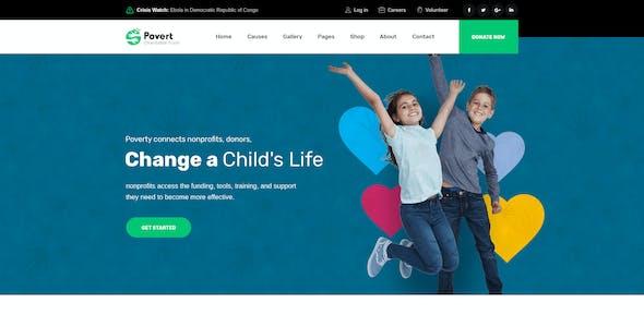 Povert - Nonprofits Charity Adobe XD Template