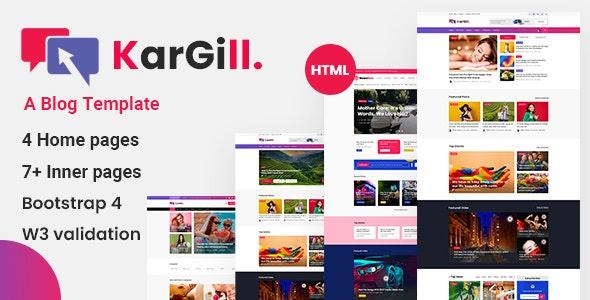Kargill - Blog, Magazine Html Template - Business Corporate