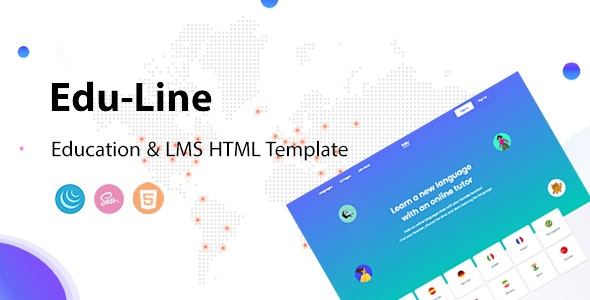 Eduline - Language School & Education HTML Template - Corporate Site Templates