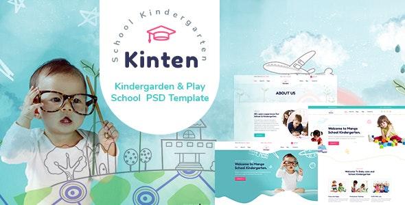 Kinten - Kindergarden & Play School  PSD Template - Children Retail