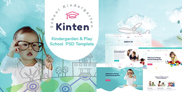 Kinten - Kindergarden & Play School  PSD Template