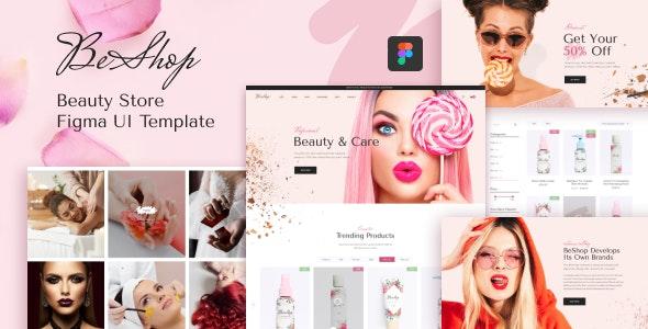 BeShop - Beauty Store Figma UI Template - Health & Beauty Retail