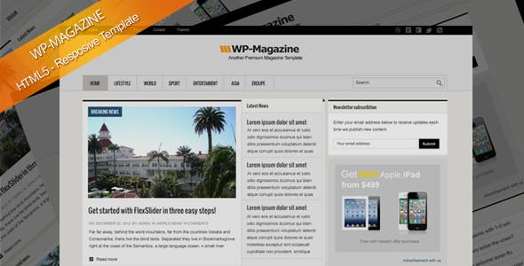Magazine HTML5 Responsive Template