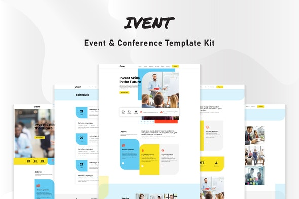 Ivent - Event & Conference Template Kit - Events & Entertainment Elementor