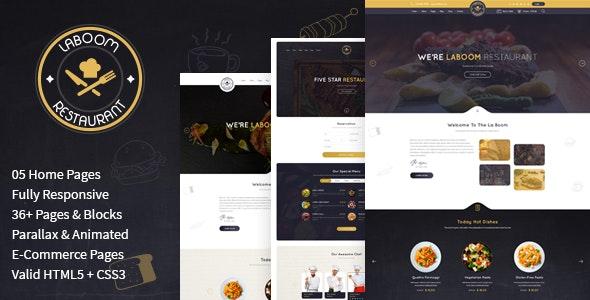 La Boom - Food & Restaurant Bistro HTML Template - Restaurants & Cafes Entertainment