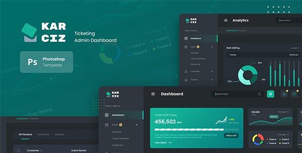 Event Ticketing Admin Dashboard UI PSD Template