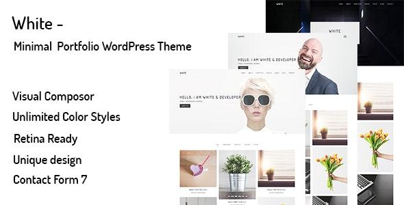 White Minimal Portfolio Wordpress Theme By Shtheme Themeforest