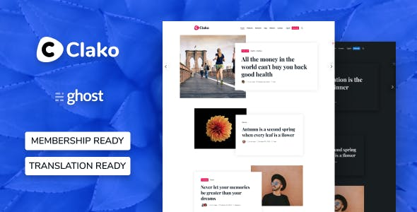 Download Clako - Ghost Blog And Magazine Theme