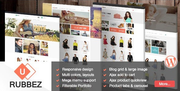 Rubbez- WooCommerce & Corporate WordPress Theme - WooCommerce eCommerce