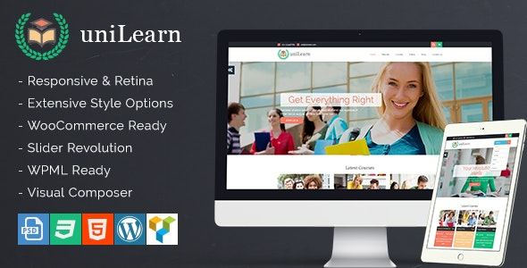 UniLearn - Education and Courses WordPress Theme - Education WordPress
