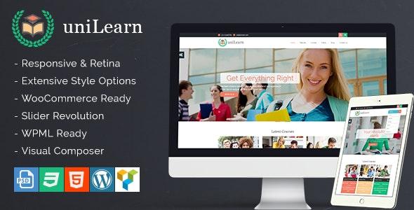 UniLearn - Education and Courses WordPress Theme - Education WordPress
