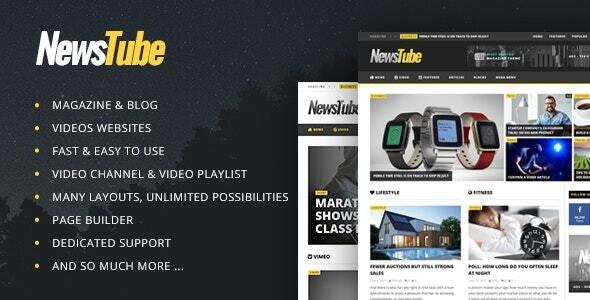 NewsTube - Magazine Blog & Video - News / Editorial Blog / Magazine