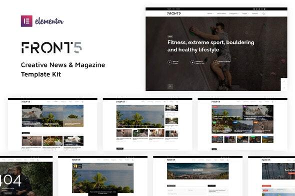 FrontFive - Creative News & Magazine Template Kit - News & Magazines Elementor