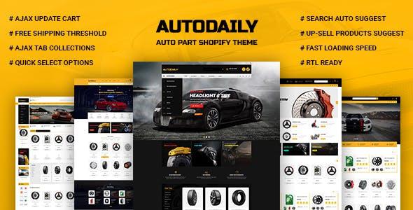 Autodaily - Auto Parts & Car Accessories Store Shopify Theme