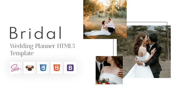 Bridal - Wedding Planner and Photography HTML5 Template - Wedding Site Templates