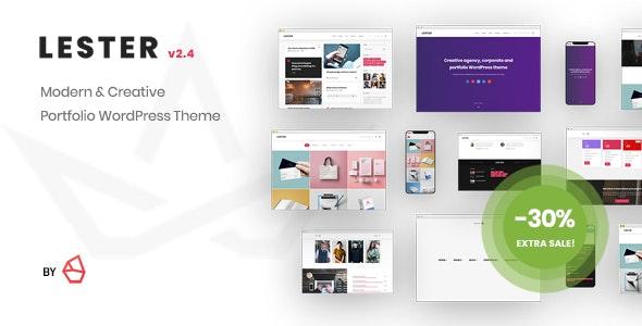 Lester - Creative Portfolio WordPress Theme - Portfolio Creative