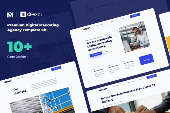 Mapan - Digital Marketing Template Kits - Creative & Design Elementor
