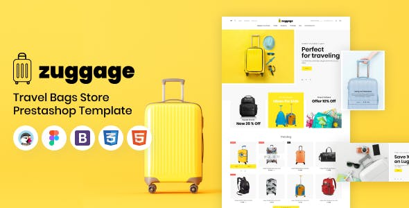 Zuggage - Travel Bags Store PrestaShop Theme