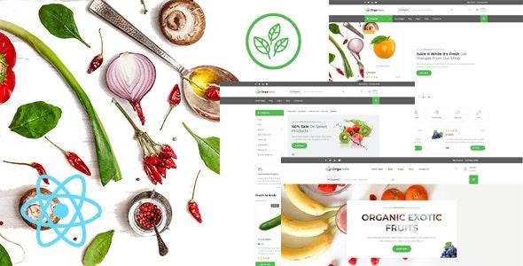 Organista - Organic Food React Template - Food Retail