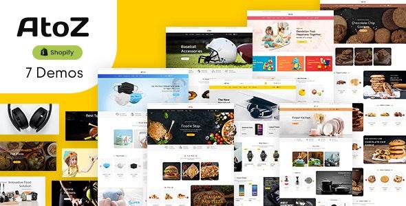 AtoZ - Multipurpose Drag & Drop Shopify Theme - Shopify eCommerce