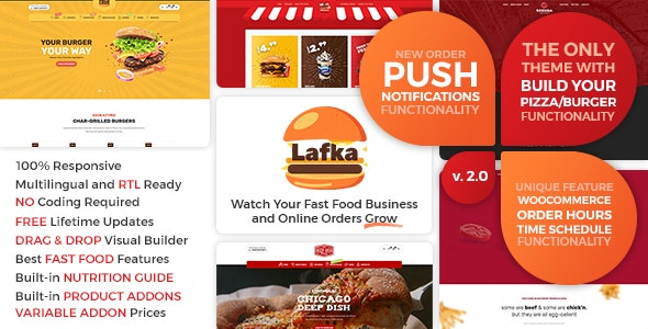 Lafka - WooCommerce Theme for Burger - Pizza & Food Delivery - Food Retail