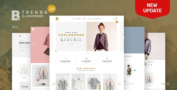 Shopify Theme - Btrend - Drag And Drop Responsive Bootstrap - Shopping Shopify