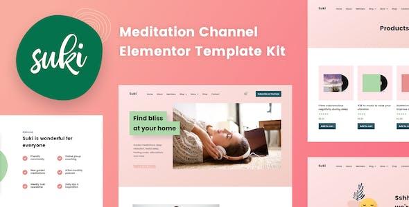 Suki - Meditation Channel Elementor Template Kit