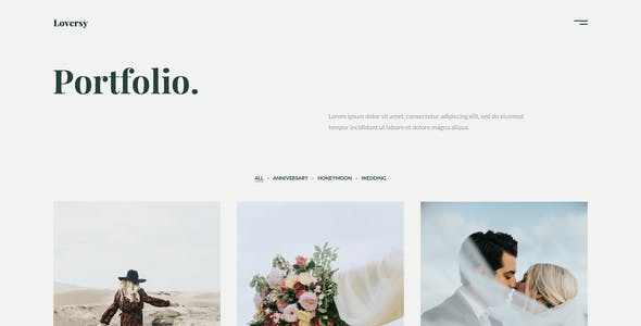 Loversy - Wedding Photography Figma Template