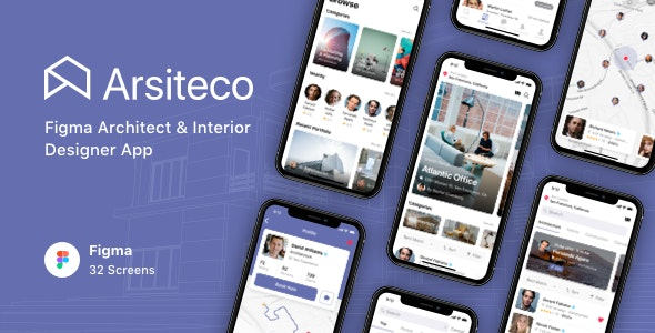 Arsiteco - Figma Architect & Interior Designer App - Business Corporate