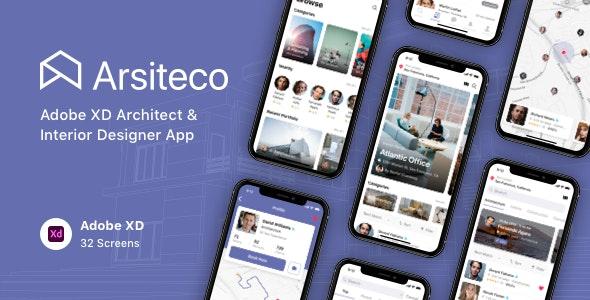 Arsiteco - Adobe XD Architect & Interior Designer App - Business Corporate