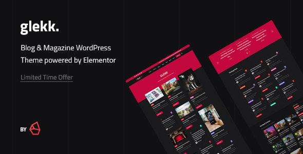 Glekk - Elementor Blog & Magazine WordPress Theme - Blog / Magazine WordPress